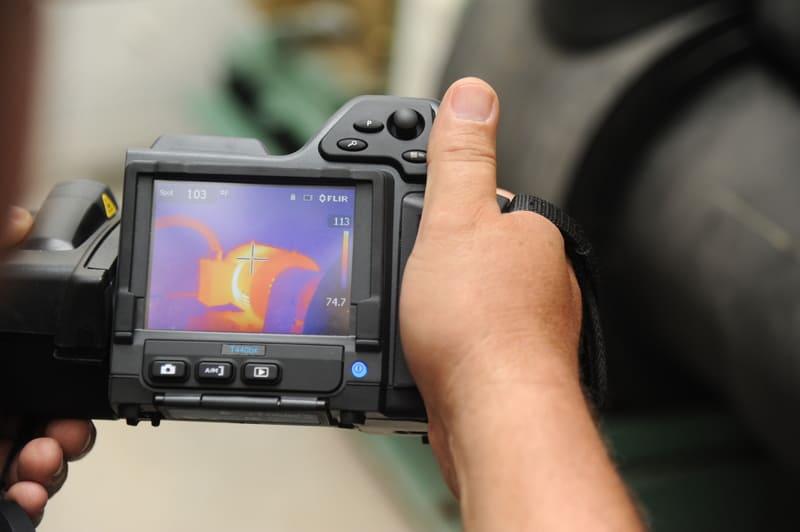 termografía o termograma de camara termica bosch
